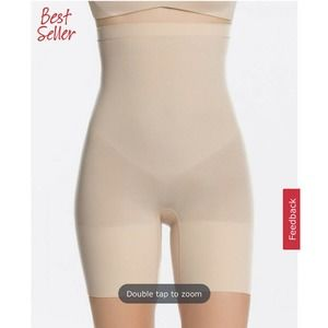 Spanx High Power Shorts Small Soft Nude FLAW